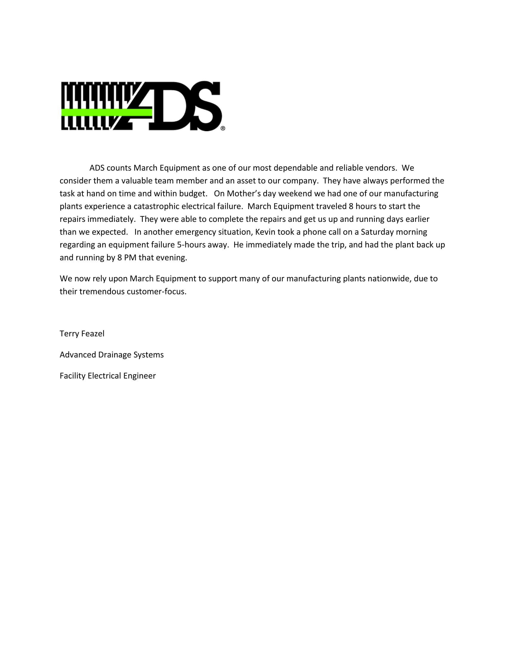 advanced_drainage_systems_letter